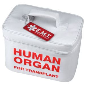 Human Organ For Transplant Lunch Cooler