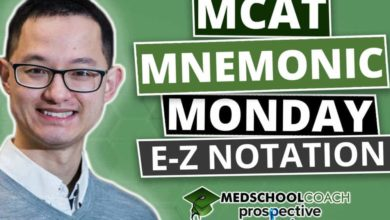 Photo of MCAT Mnemonics: E-Z Notation