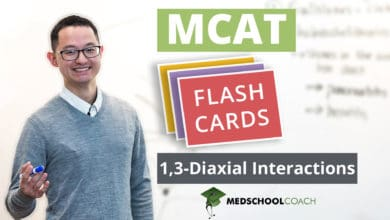Photo of MCAT Flashcards: 1,3-Diaxial Interactions
