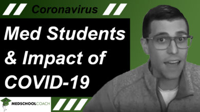 Photo of Med Students and Impact of COVID-19